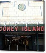 Coney Island Bmt Subway Station Canvas Print