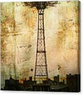 Coney Island Eiffel Tower Canvas Print