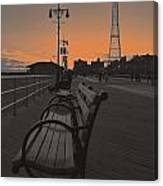 Coney Island Evening Canvas Print