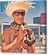 Coney Island Snake Man Canvas Print