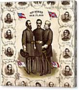 Confederate Generals And Flags Canvas Print