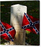 Confederate Grave   #2831 Canvas Print