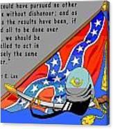 Confederate States Of America Robert E Lee Canvas Print