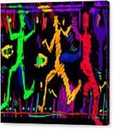 Confetti Marionettes Canvas Print