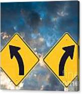 Confusing Road Signs Canvas Print