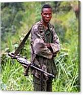 Congolese Soldier Standing Guard Canvas Print