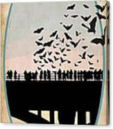 Congress Avenue Bridge Bats Canvas Print