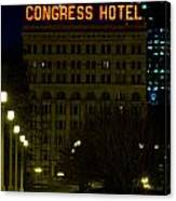 Congress Hotel In Chicago Canvas Print