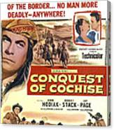 Conquest Of Cochise, Us Poster, Top Canvas Print