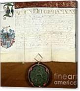 Constantijn Huygens Knighthood 1622 Canvas Print
