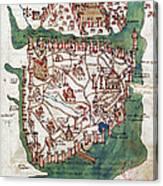 Constantinople, 1420 Canvas Print