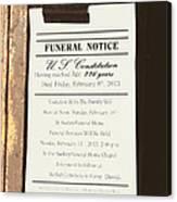 Constitution Death Notice Canvas Print