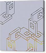 Construct Number Four Canvas Print