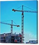construction cranes HDR Canvas Print