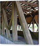 Construction Under The Roof - Jackson Covered Bridge Nh Canvas Print