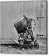 Construction - Vintage Cement Mixer Canvas Print