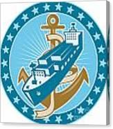 Container Ship Cargo Boat Anchor Canvas Print