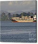 Container Ship In Halong Bay Canvas Print