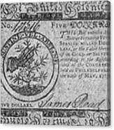 Continental Currency, 1775 Canvas Print