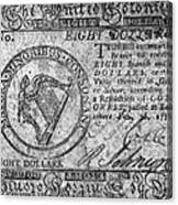 Continental Currency, 1777 Canvas Print