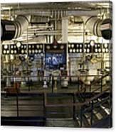 Control Board Engine Room Queen Mary Ocean Liner Long Beach Ca Canvas Print
