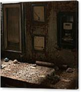 Control Panel In Decay Canvas Print