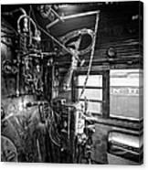 Controls Of Steam Locomotive No. 611 C. 1950 Canvas Print