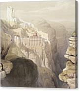 Convent Of St. Saba, April 4th 1839 Canvas Print