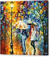 Conversation - Palette Knife Oil Painting On Canvas By Leonid Afremov Canvas Print