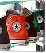 Converse Star Sneakers Canvas Print