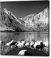 Convict Lake Pano In Black And White Canvas Print