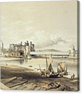 Conway Bridge, Construction Of Second Canvas Print