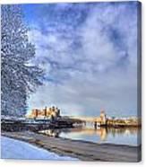 Conwy Castle Snow Canvas Print