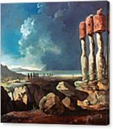 Cook: Easter Island, 1774 Canvas Print