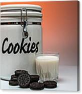 Cookies And Milk Canvas Print