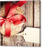 Cookies With Tag Retro Canvas Print