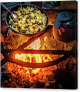 Cooking Meat And Potatoes Canvas Print