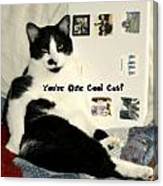Cool Cat Greeting Card Canvas Print