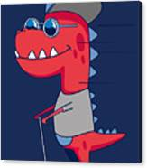 Cool Dinosaur Character Design Canvas Print