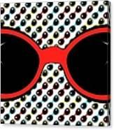 Cool Retro Red Sunglasses Canvas Print