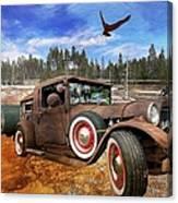 Cool Rusty Classic Ride Canvas Print