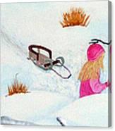 Cool  Winter Friend - Snowman - Fun Canvas Print