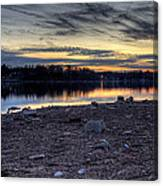 Cool Winter Sunset Canvas Print
