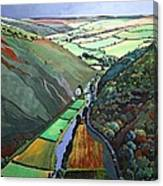 Coombe Valley Gate, Exmoor, 2009 Acrylic On Canvas Canvas Print