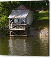 Coosa River Fishing Hut   #9548 Canvas Print