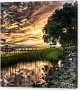 Coosaw Plantation Sunset Canvas Print
