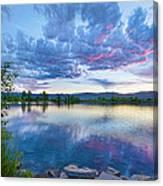 Coot Lake View Canvas Print