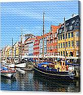 Copenhagen Denmark Nyhavn District Canvas Print