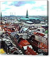 Copenhagen Roofs With Danish Parliament I Canvas Print