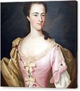 Copley's Jane Browne -- Mrs. Samuel Livermore Canvas Print